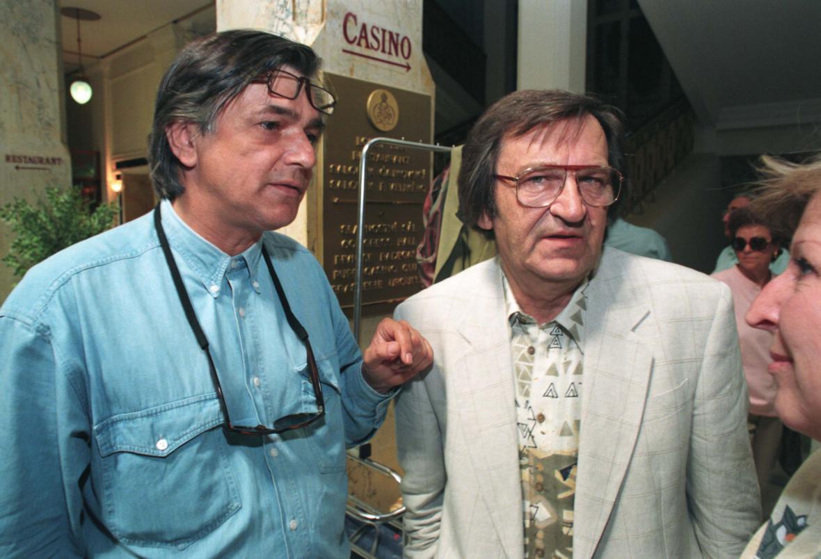 Jiří Bartoška a Antonín Moskalyk při přípravách 29. ročníku festivalu ve Varech