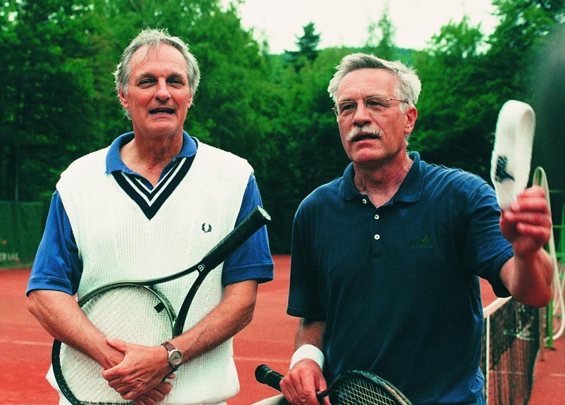 Alan Alda a Václav Klaus (MFF Karlovy Vary, 1996)