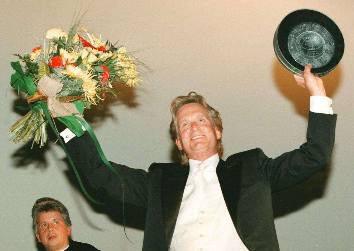 Michael Douglas na MFF Karlovy Vary (1998)