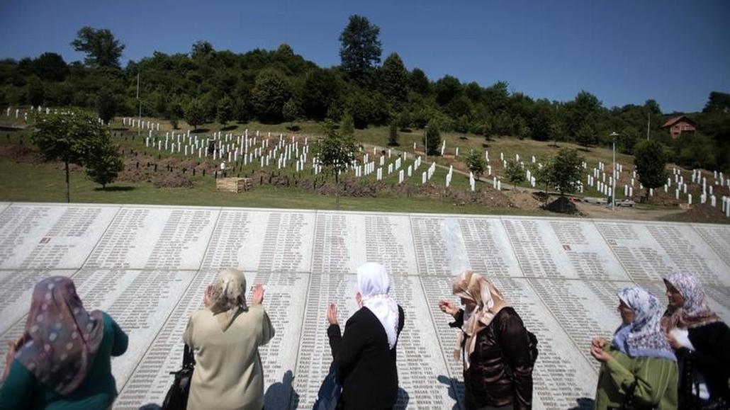 Pietní místo ve Srebrenici