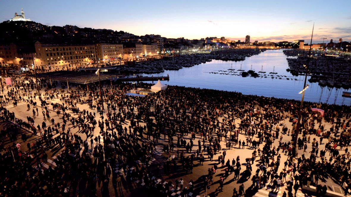 Renovace Starého přístavu Vieux-Port, Marseille, Francie