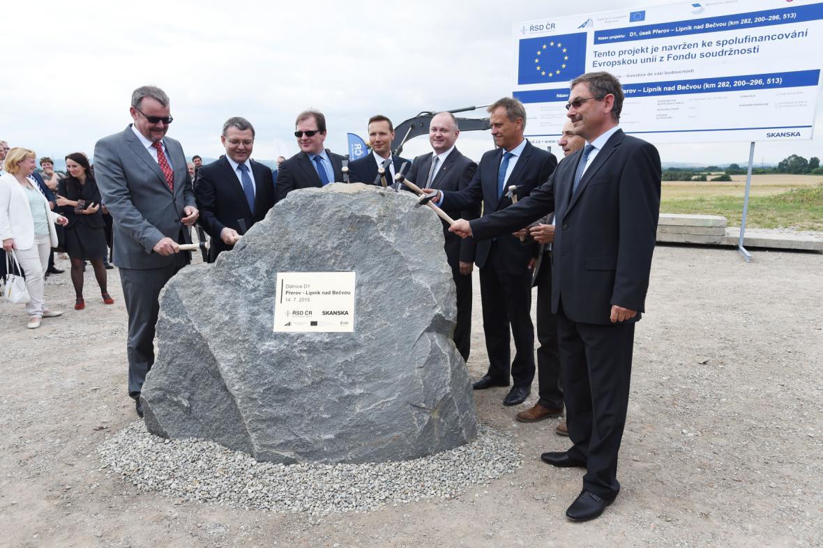 Zahájení stavby úseku dálnice D1 mezi Přerovem a Lipníkem nad Bečvou