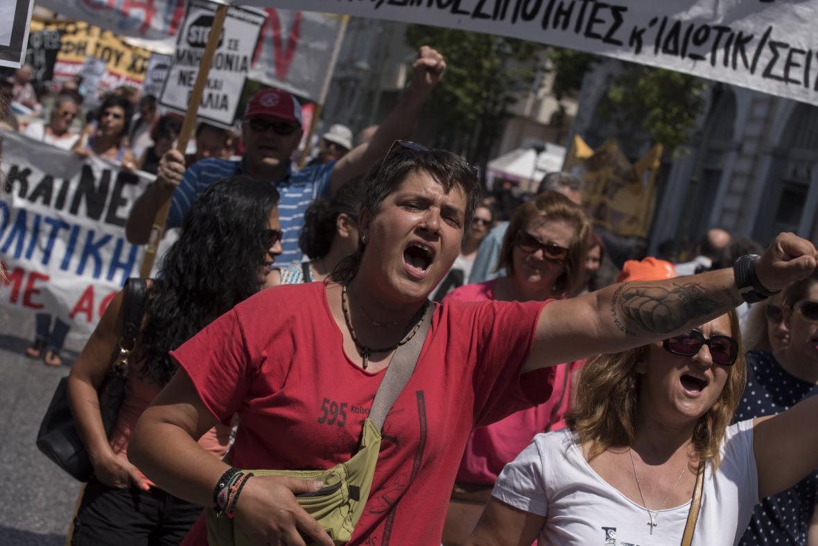 Řekové protestují