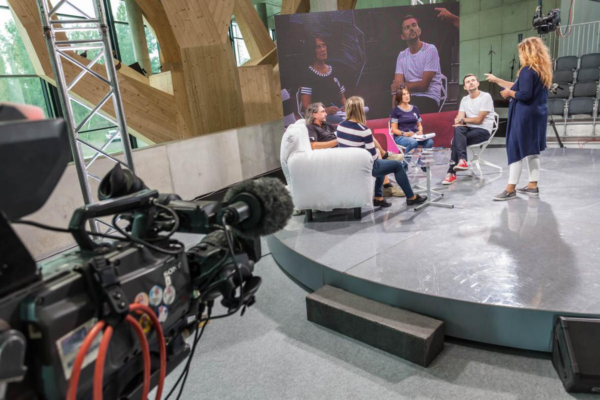 Příprava na živé vysílání Studia 6