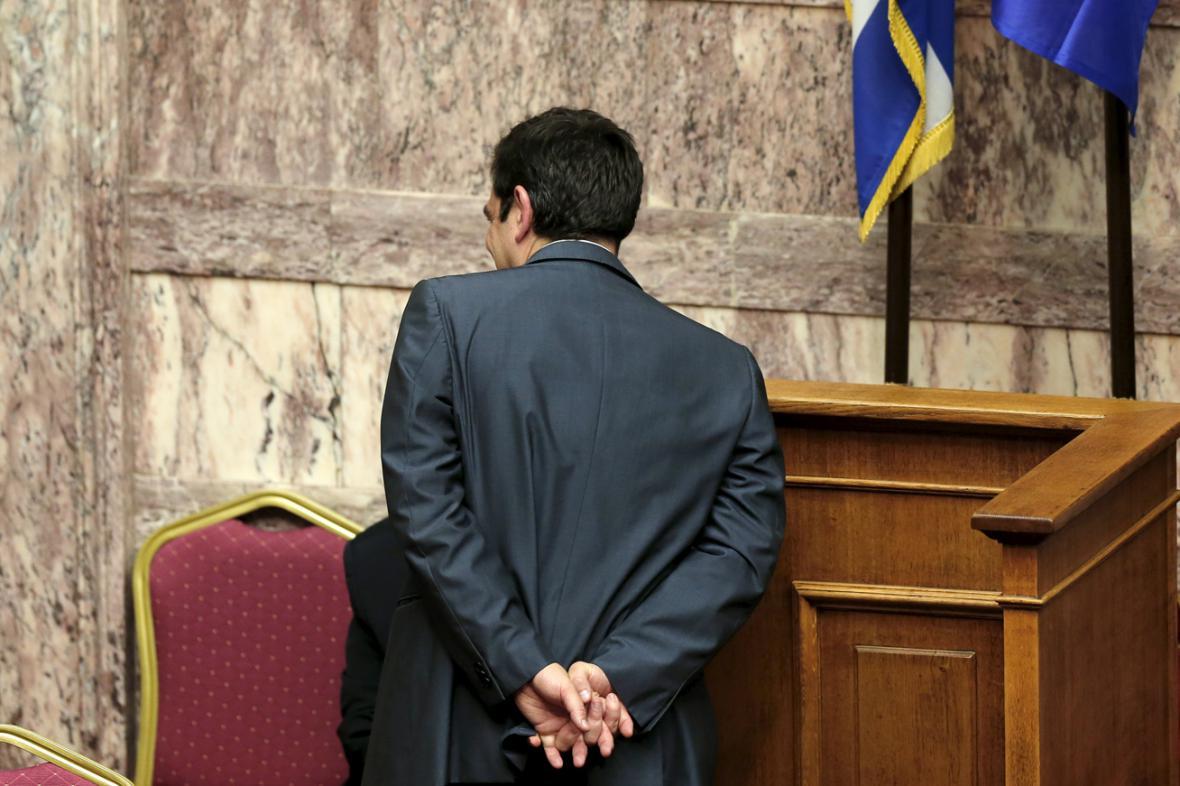 Řecký premiér Alexis Tsipras na jednání parlamentu o reformách