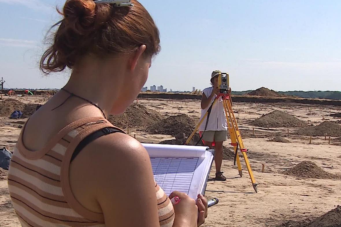 Archeologický průzkum v Modřicích na Brněnsku
