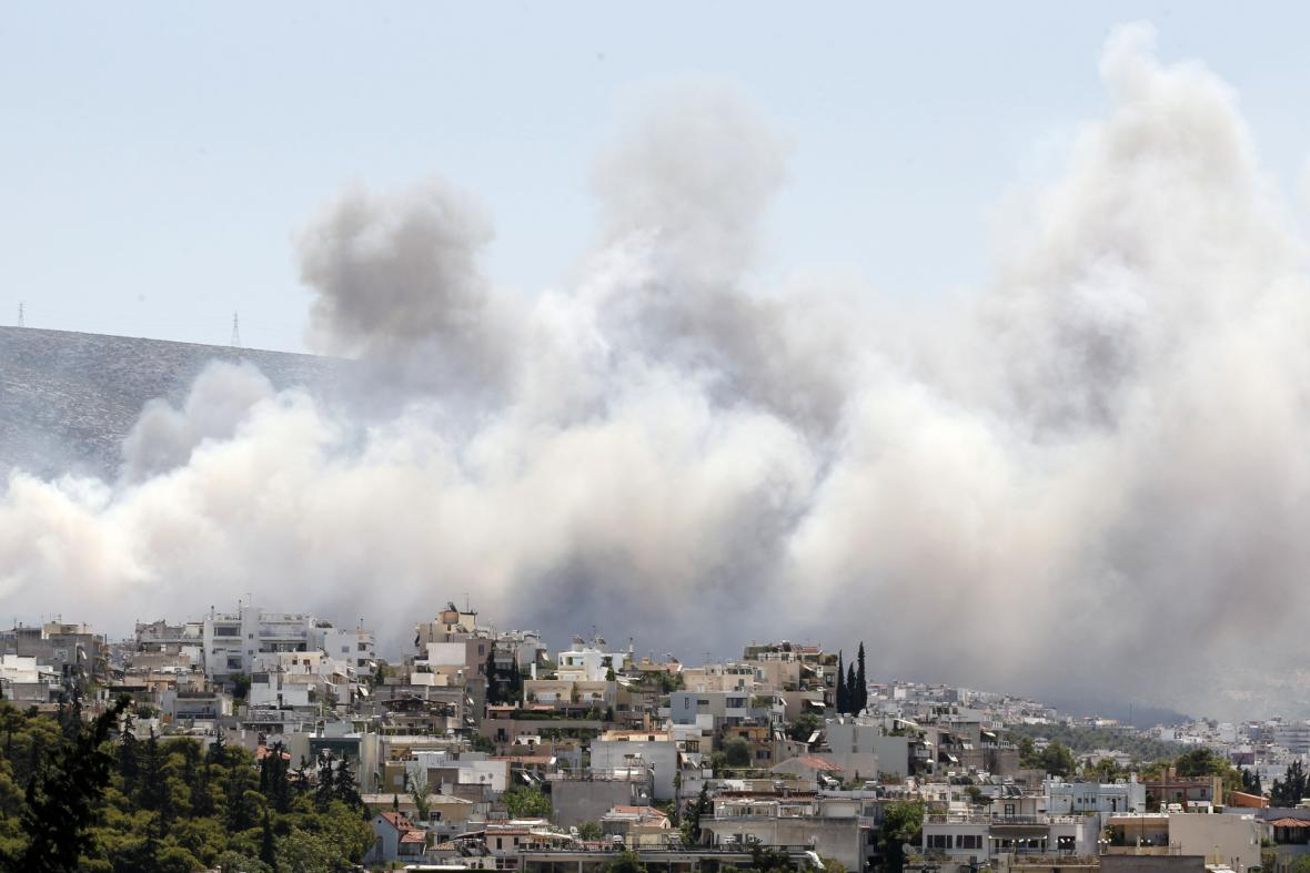Požár u Atén