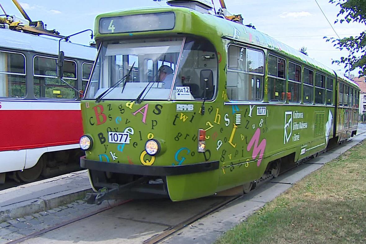 Tramvaj čtenářů brněnské knihovny