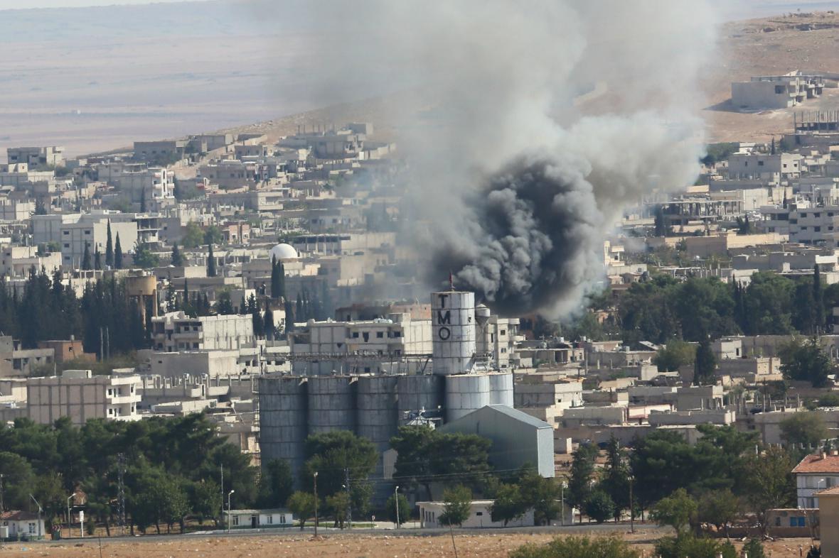 Nálety na Kobani