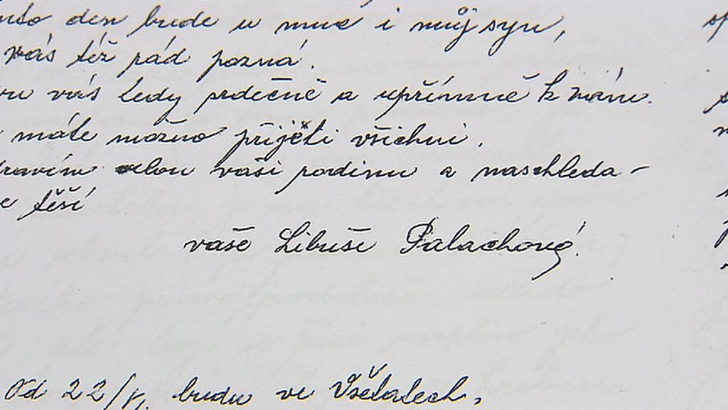 Dopis Libuše Palachové matce Jana Zajíce z roku 1969