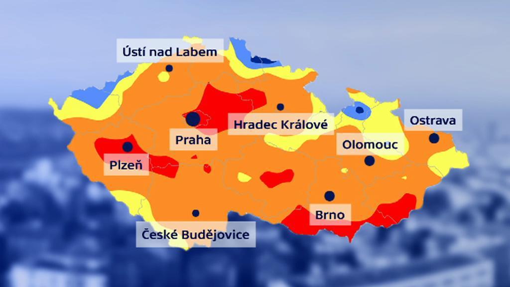 Mapa nejsušších míst