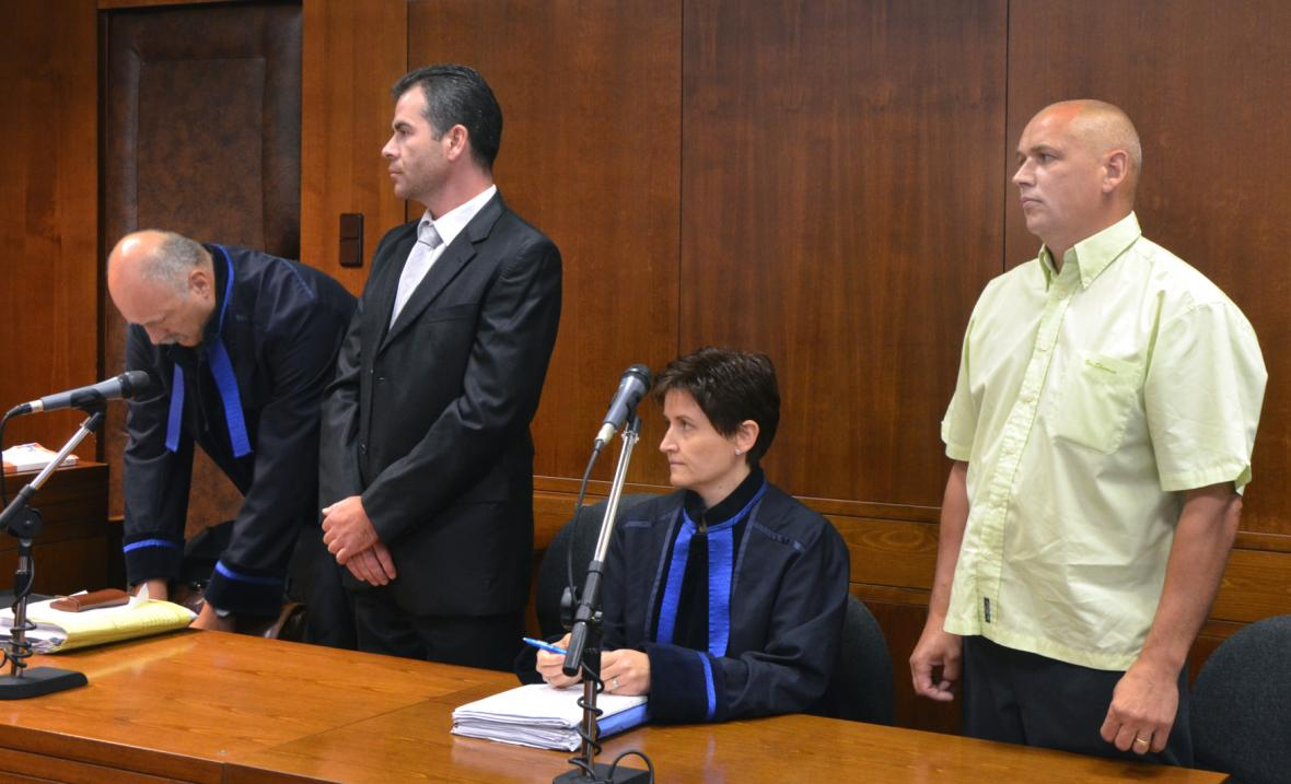 Jaromír Pánek a Šimon Kramarczyk u soudu