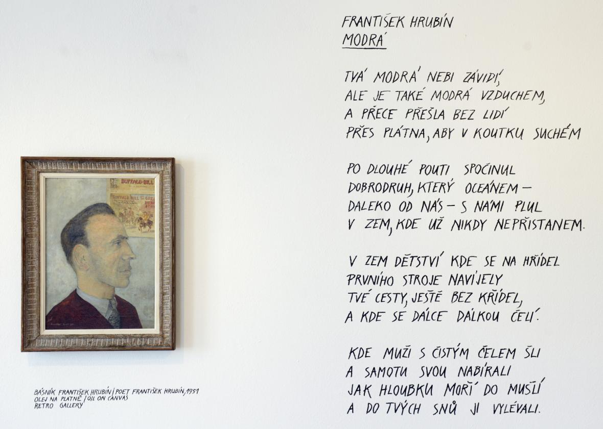 Kamil Lhoták / Portrét Františka Hrubína