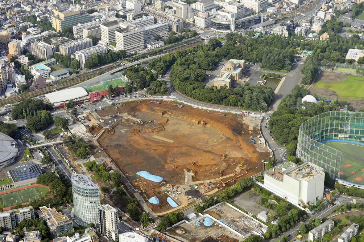 Na místě plánovaného tokijského stadionu je zatím prázdno