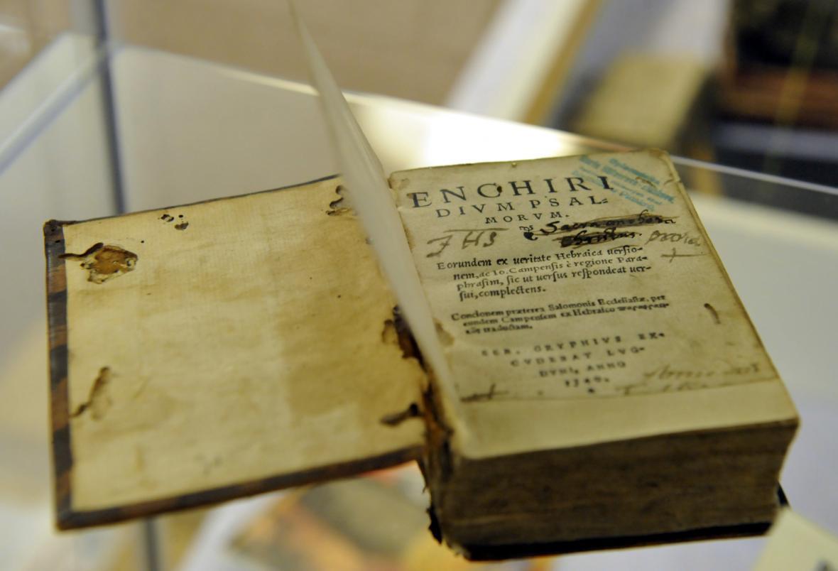 Žalmy v latině z roku 1540