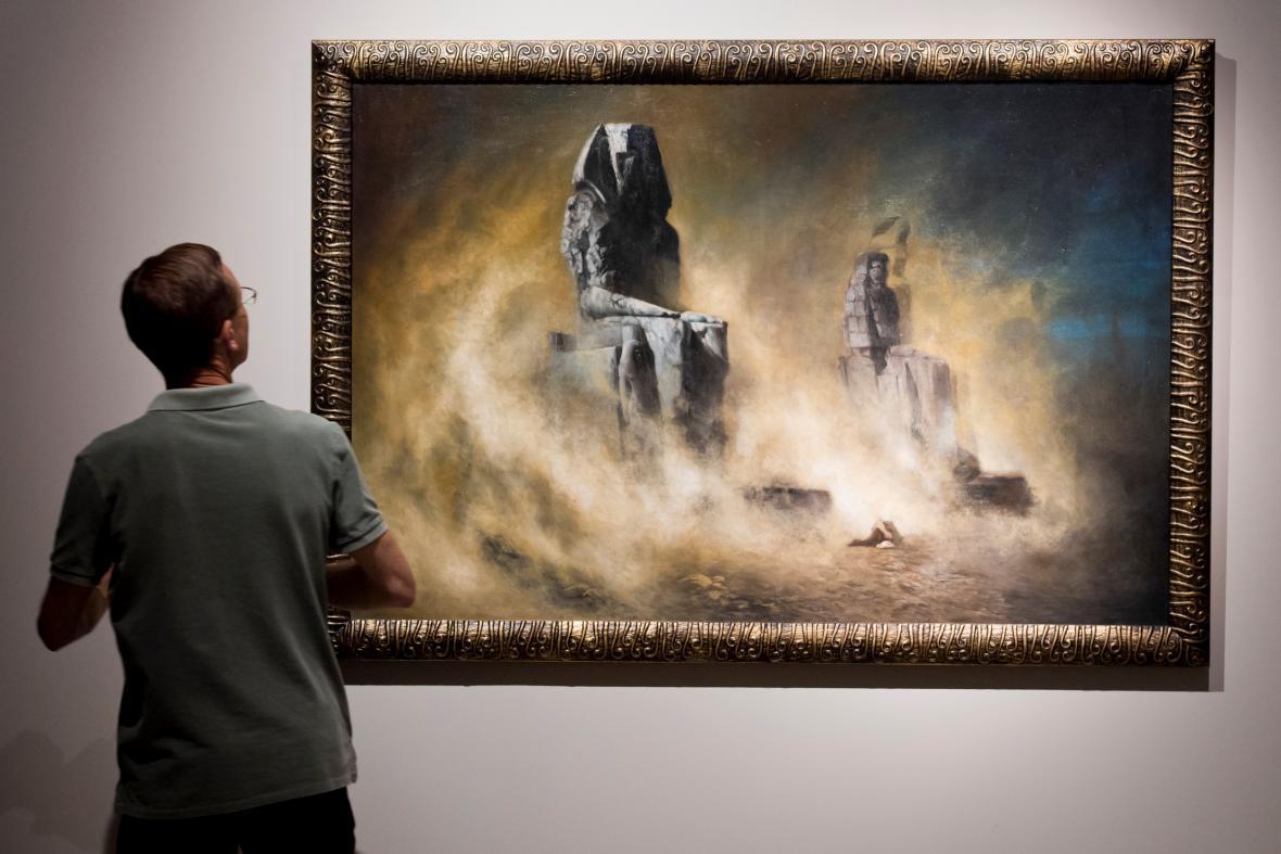 Karel Wilhelm Diefenbach / Memnonovy kolosy za písečné bouře (1896)