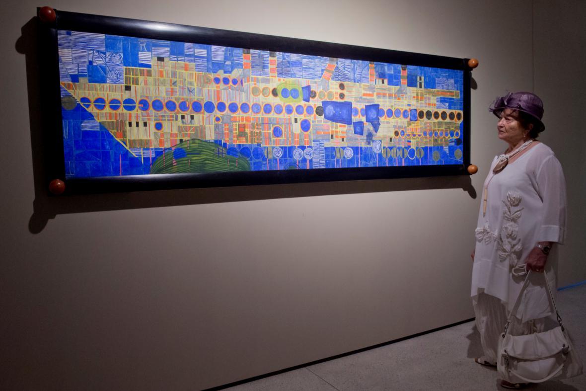 Friedensreich Hundertwasser / Zpívající parník v ultramarínu III.