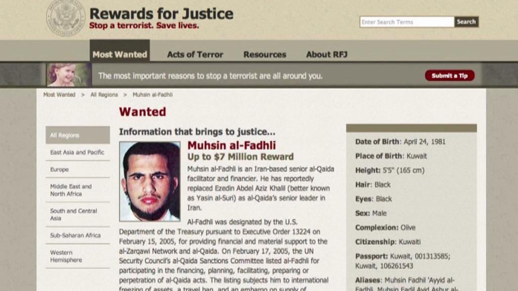 Za informace vedoucí k dopadení Fadlího byla vypsána velká odměna