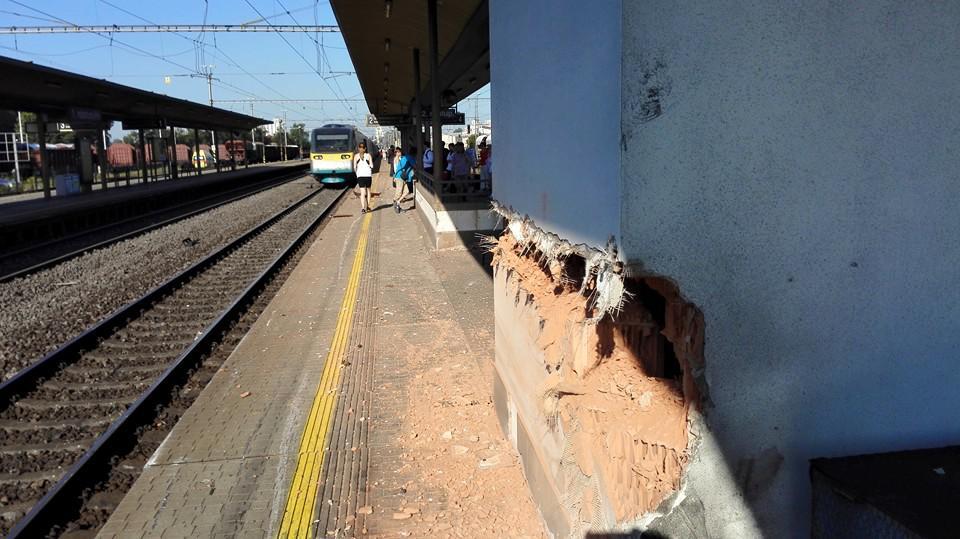 Následky nehody u Studénky