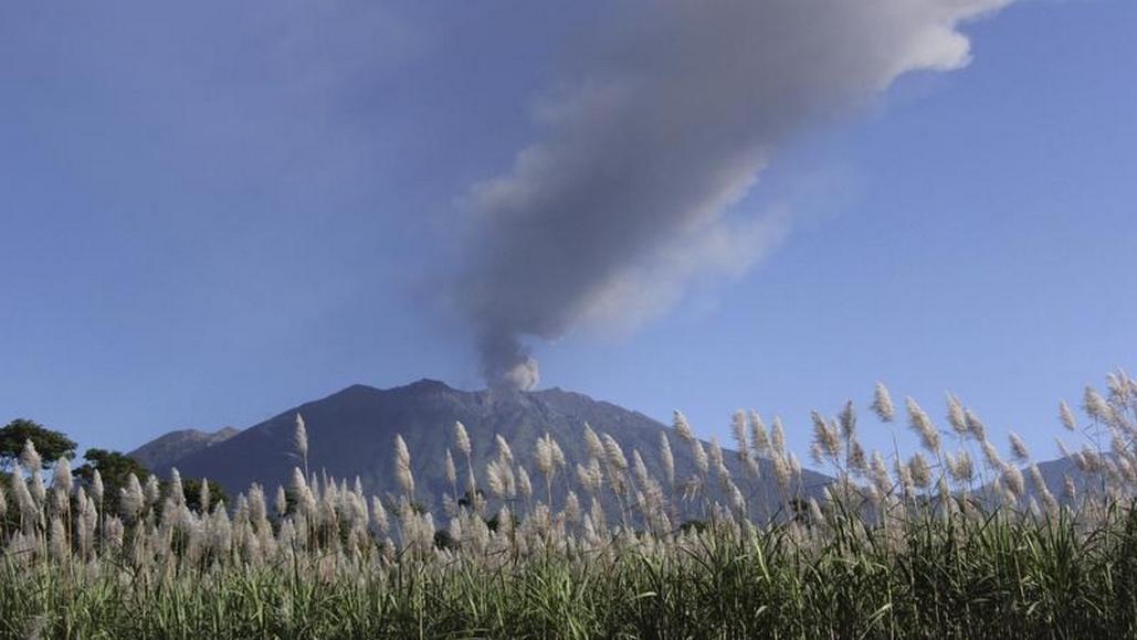 Jávská sopka Raung