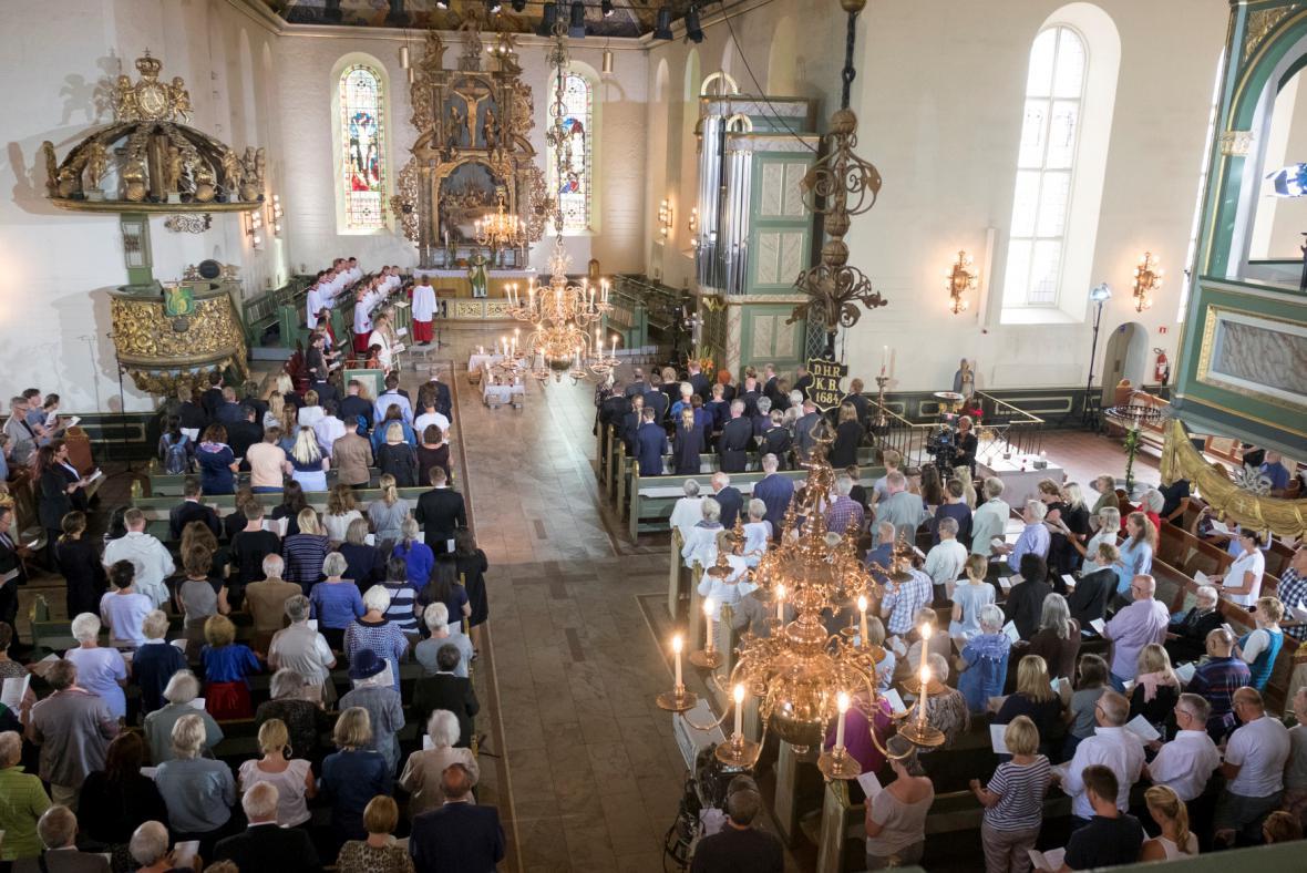 Vzpomínková bohoslužba v katedrále norské metropole