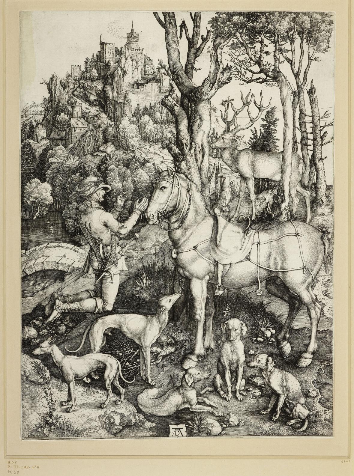 Albrecht Dürer / Svatý Eustach, kolem 1500