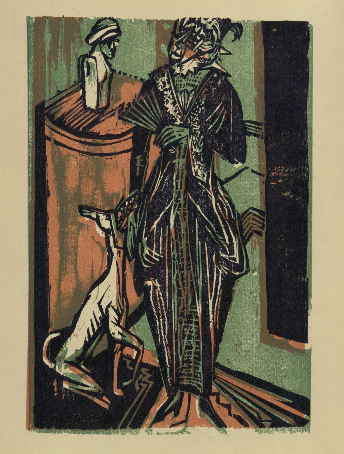 Ernst Ludwig Kirchner / Dáma se psem, 1916
