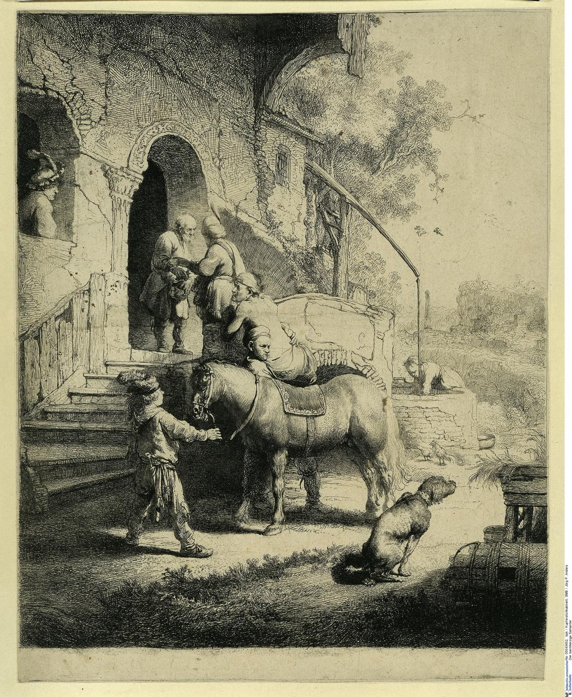 Rembrandt / Milosrdný samaritán, 1633