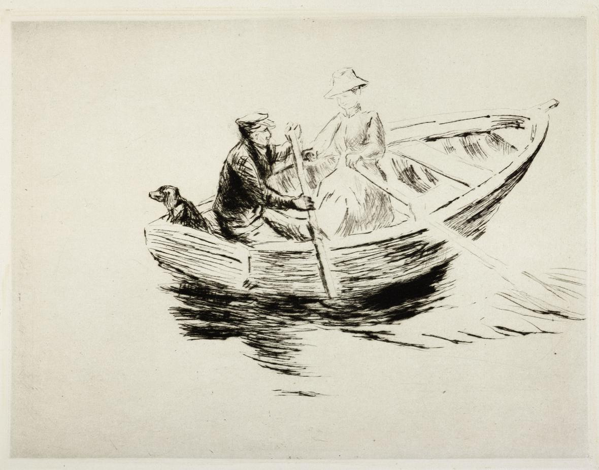 Max Liebermann / Ve člunu, 1917