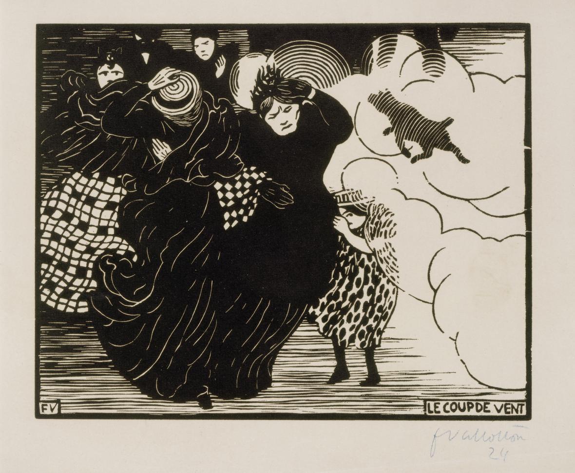 Félix Vallotton / Poryv větru, 1894