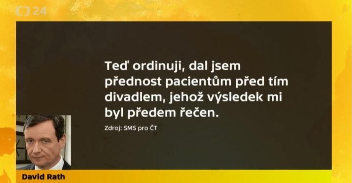 SMS Davida Ratha pro ČT