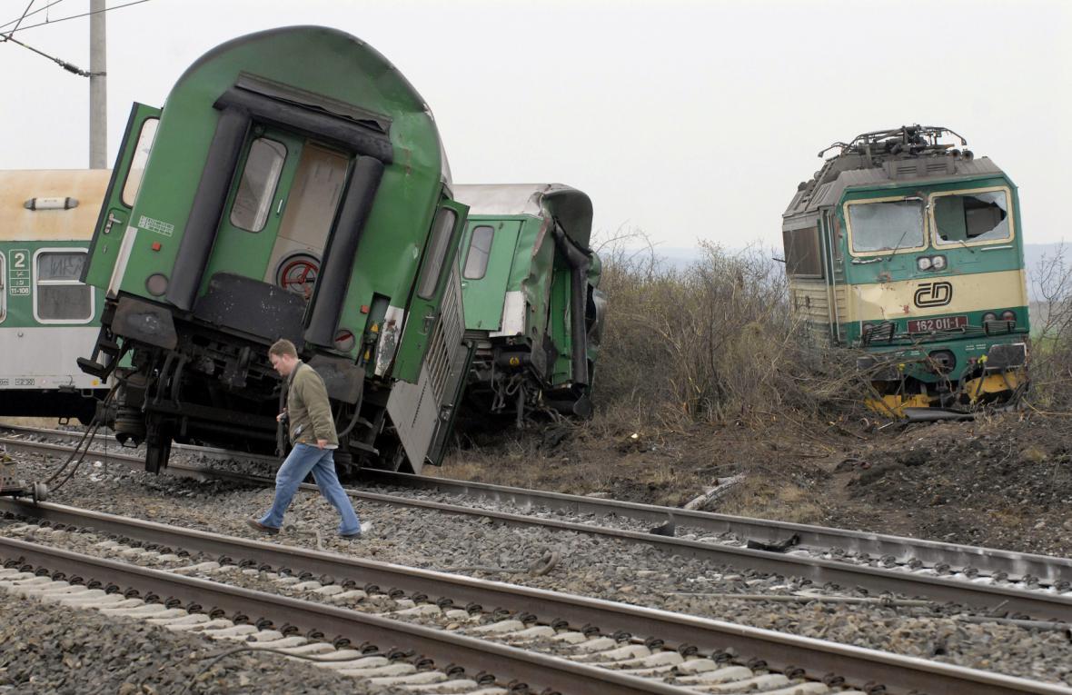 Železniční nehoda u Vraňan