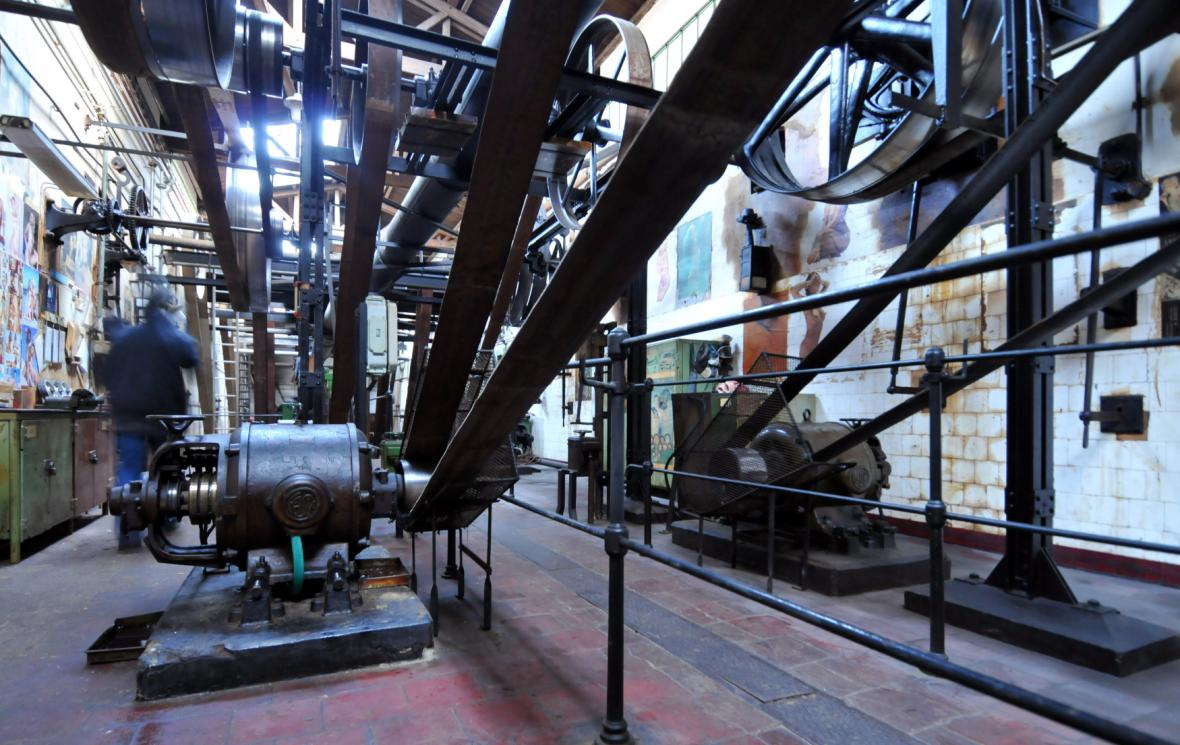 Výrobní hala v Explosii - snímek z roku 2009
