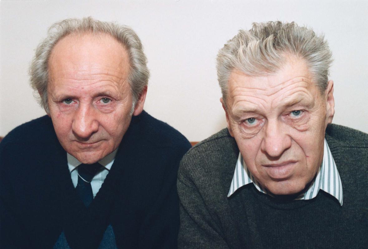Vynálezci Semtexu Stanislav Brebera a Radim Fukátko - snímek z roku 1993