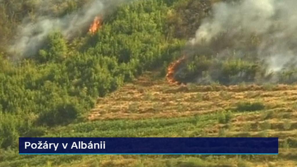 Požáry v Albánii