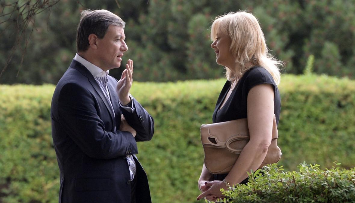 David Rath se svou advokátkou Marcelou Ondřejovou
