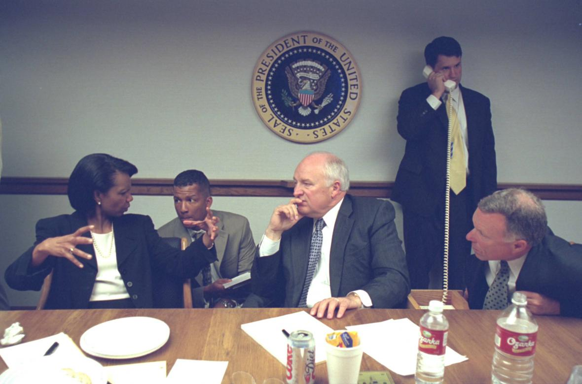 Condoleezza Riceová a Dick Cheney na snímku z 11. září