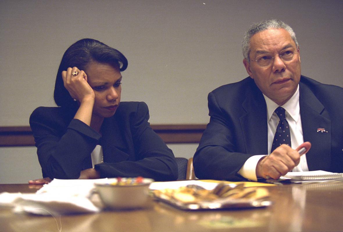 Condoleezza Riceová a Colin Powell