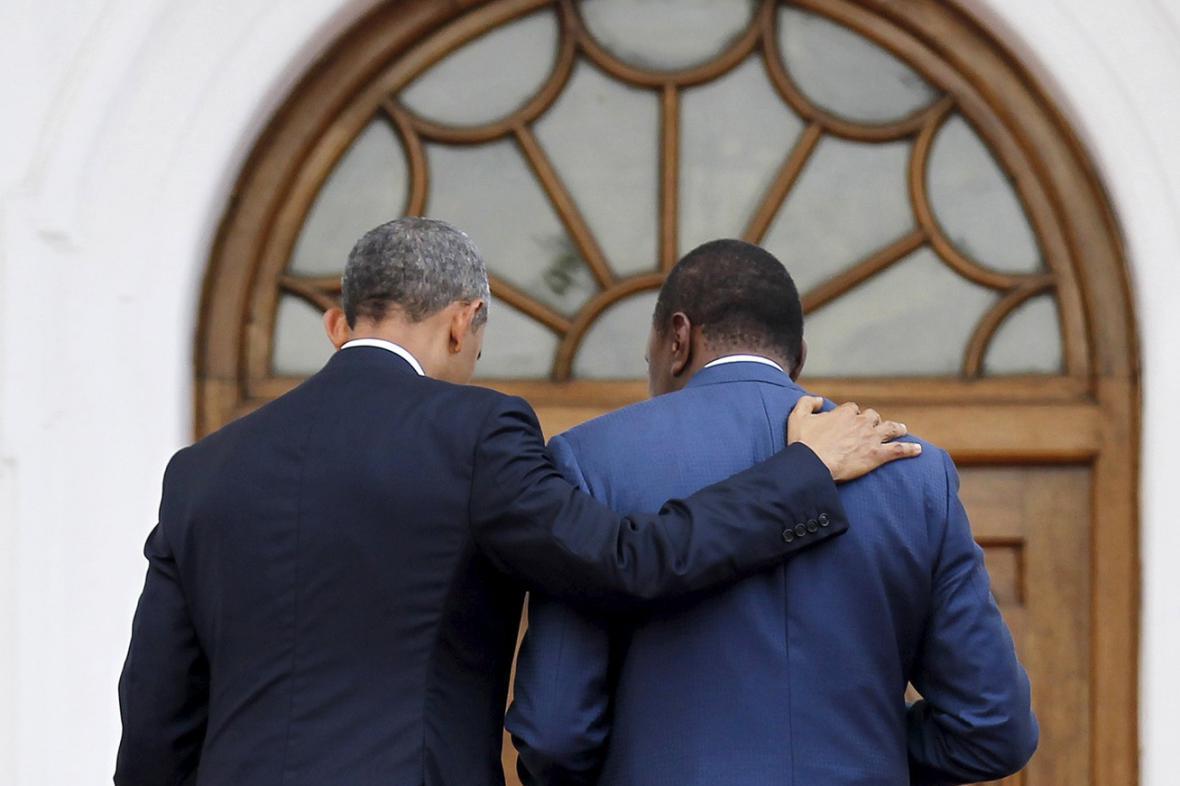 Barack Obama a Uhuru Kenyatta