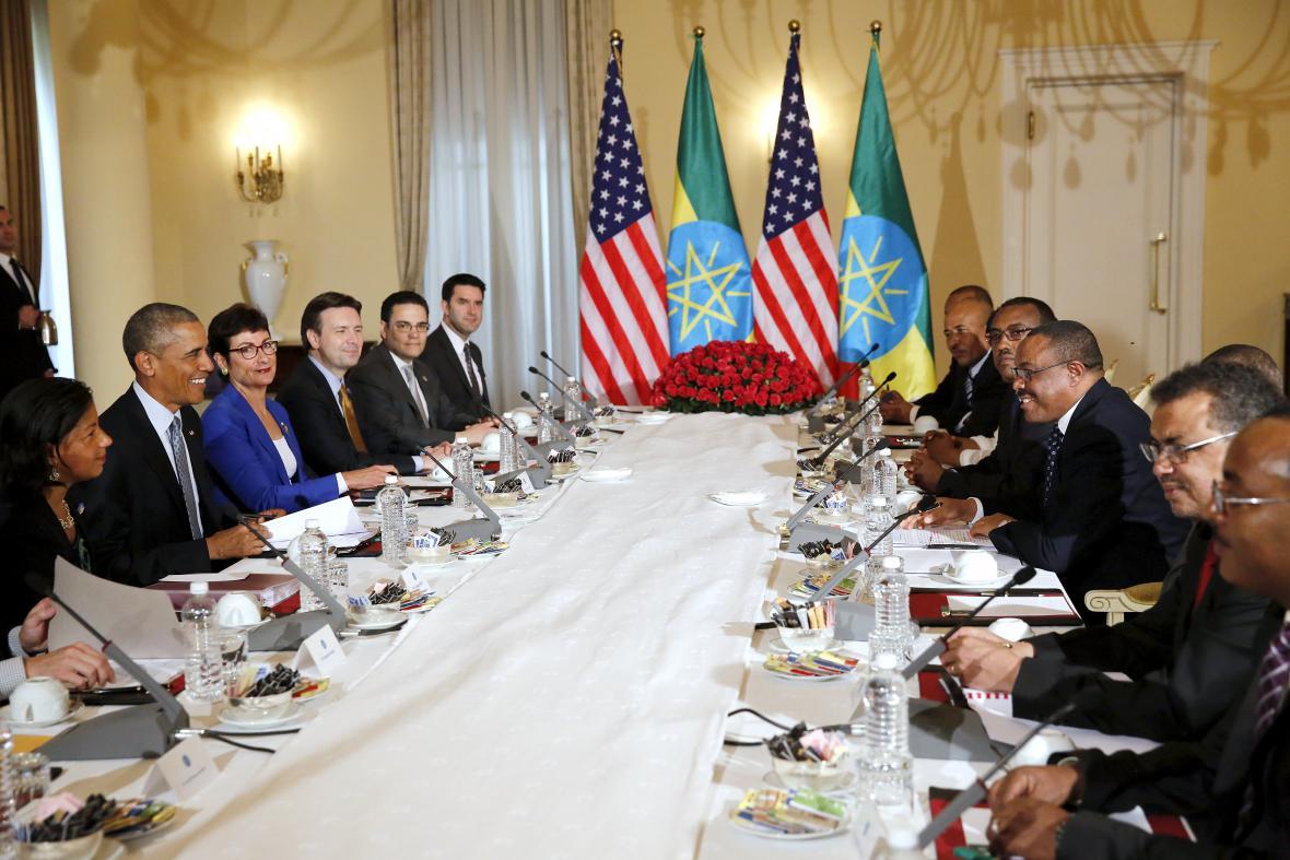 Barack Obama na návštěvě Etiopie