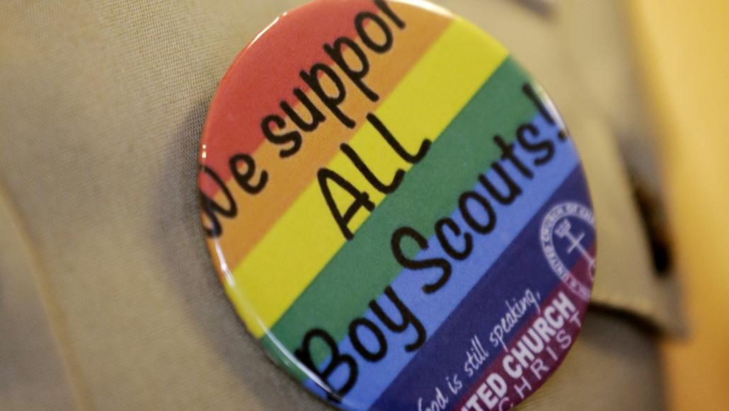 Podpora gayů v rámci skautů