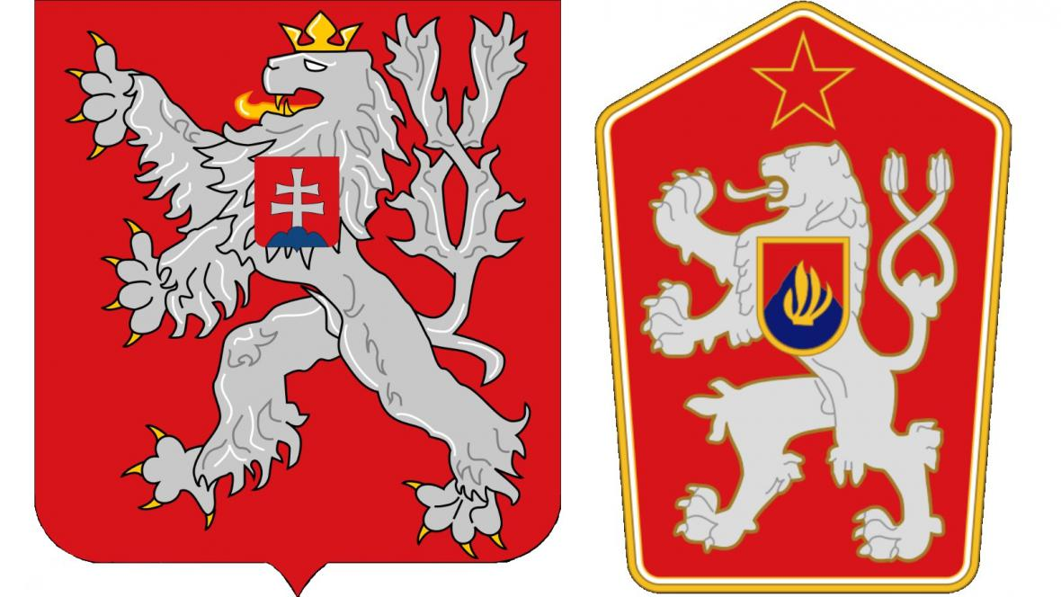 Státní znak do roku 1961 a mezi lety 1961-1989