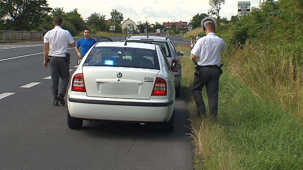 Civilní policejní vůz s měřicí technikou