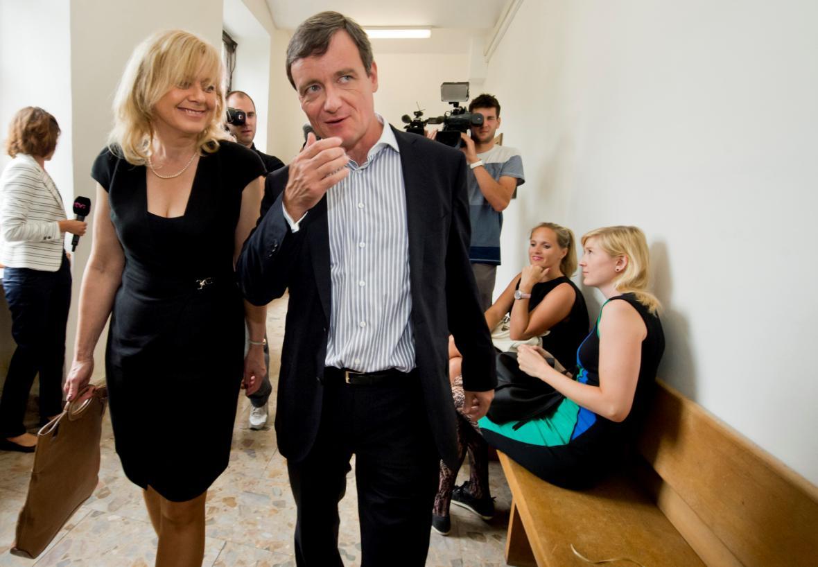 David Rath s advokátkou Marcelou Ondřejovou