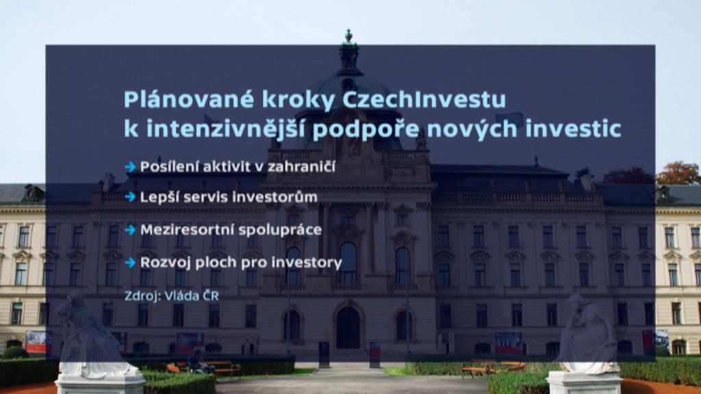 Plánované kroky CzechInvestu k intenzivnější podpoře nových investic