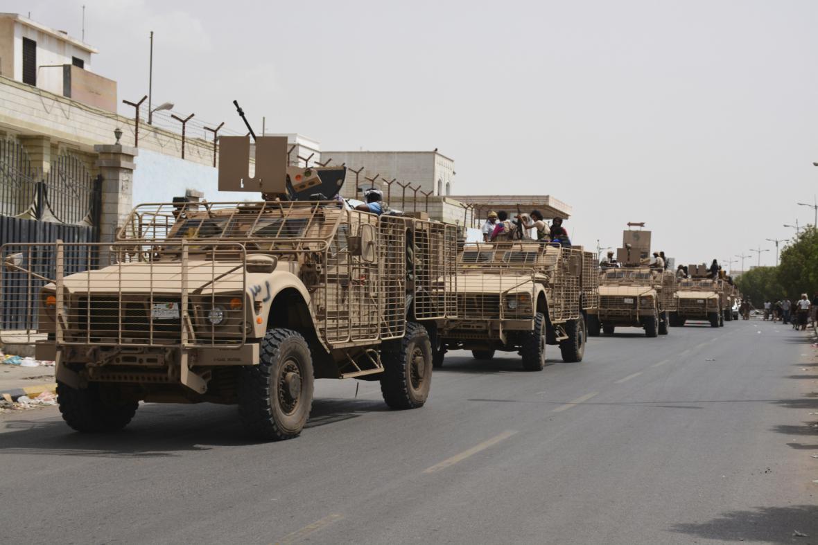 Vládní jednotky poblíž Adenu