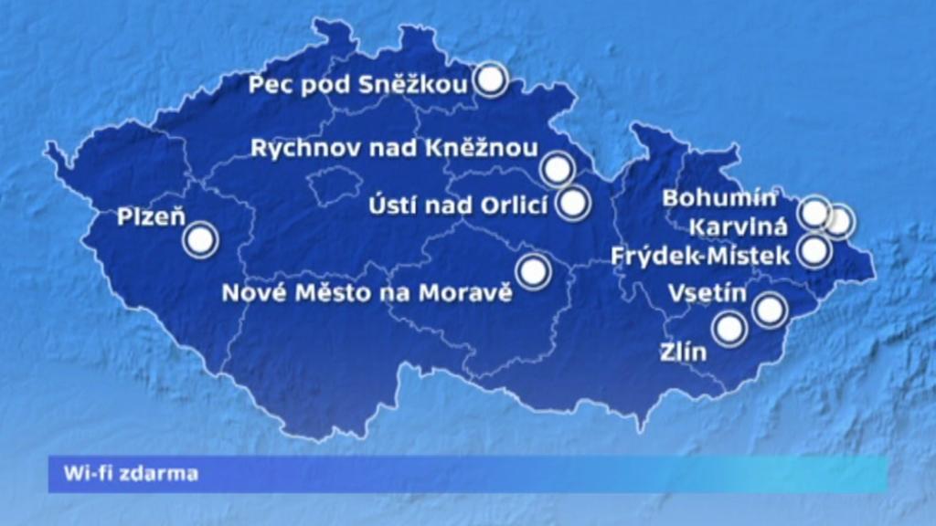 Města v ČR s Wi-Fi zdarma
