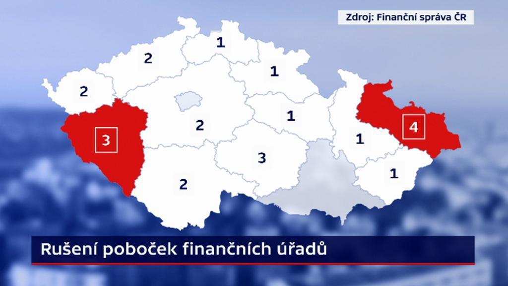 Rušení poboček finančních úřadů