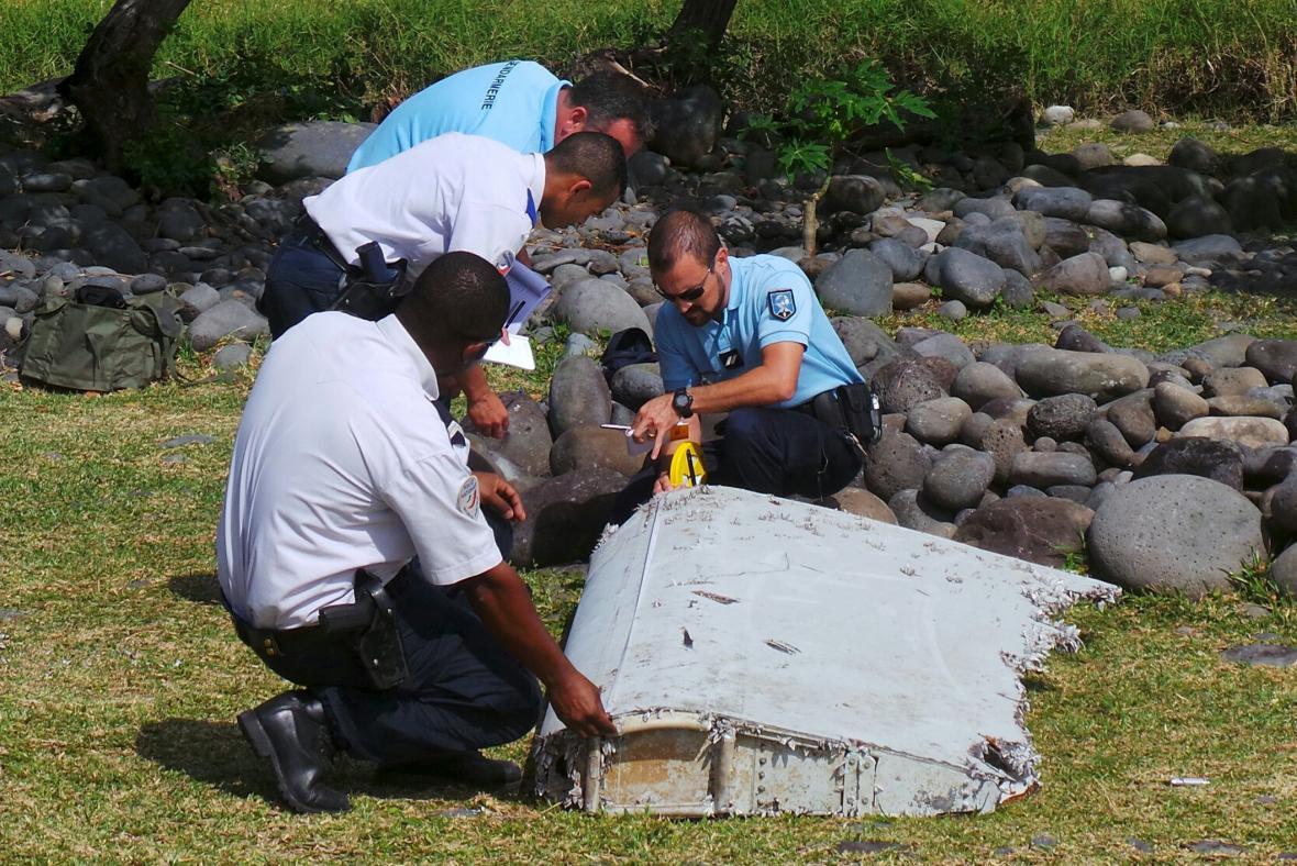 Trosky nalezené na Réunionu