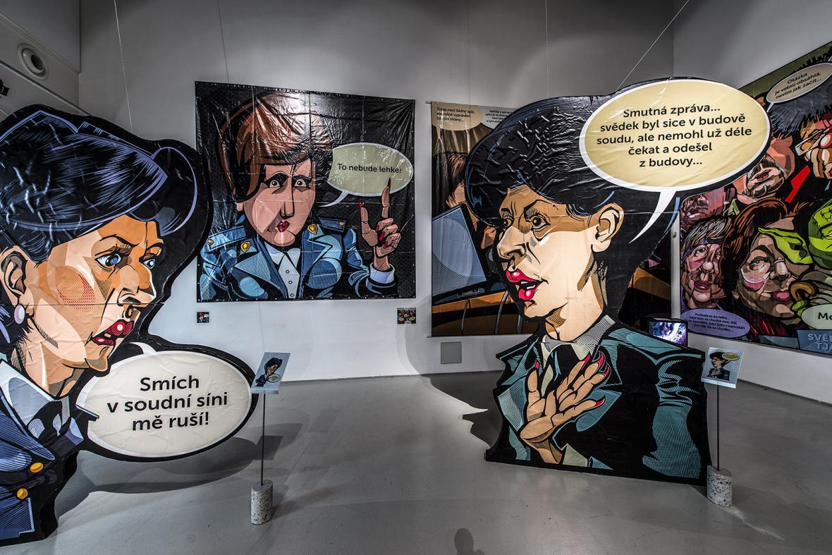 Instalace výstavy Proces v galerii Dox